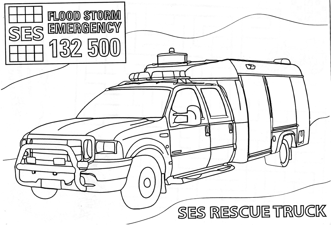 Kids corner glamorgan springbay state emergency service for Emergency coloring pages